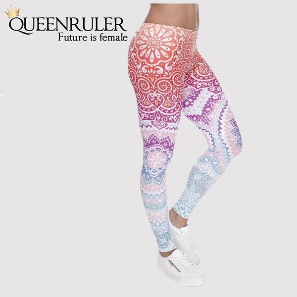 Side View Aztec Women Fitness Leggings | Queensruler