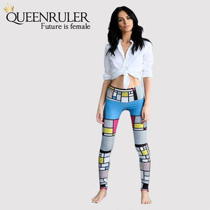 Color Stitching Yoga Fitness Leggings - Queenruler