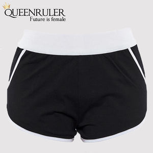 High Waist Athletic Shorts (Black) - Queenruler
