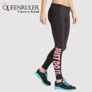 Just Do It Workout Leggings (Pink) - Queenruler