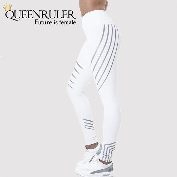 Breathable Yoga Pants (White) - Queenruler