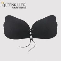Sexy Wings Fitness Bra (Smooth Black) - Queenruler