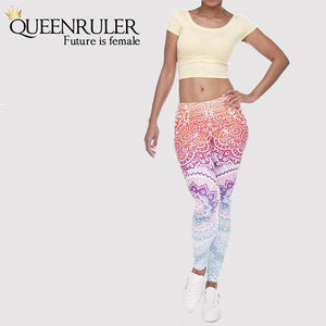 Front View Aztec Women Fitness Leggings | Queensruler