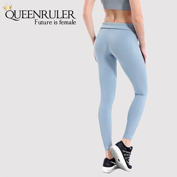 Quick Dry Yoga Pants (Silver) - Queenruler