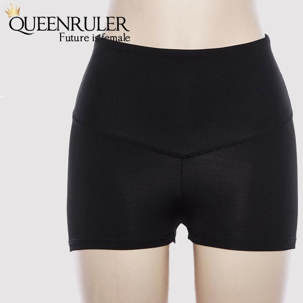 High Waist Push Up Shorts (Black) - Queenruler