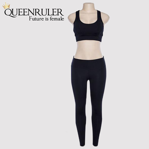 Fashion Yoga Set (Black) - Queenruler