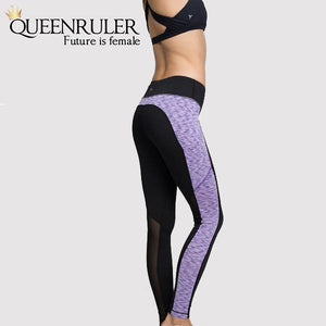 Woman wearing Women Fitness Leggings (Purple) | Queensruler
