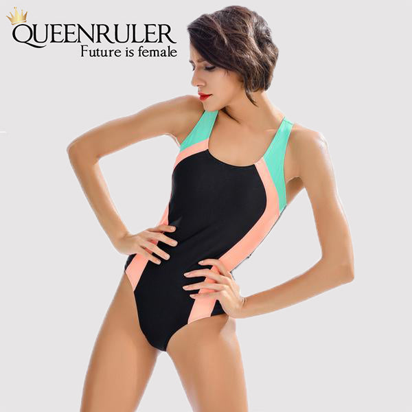 One Piece Fashion Swimsuit (Black) - Queenruler