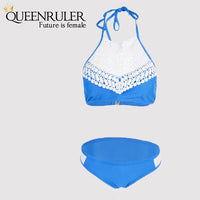 Sexy Brazilian Bikini (Lace Blue) - Queenruler