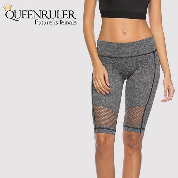 Yoga Shorts With Pocket (Grey A) - Queenruler