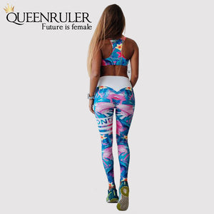 Retro Digital Print Athletic Set - Queenruler