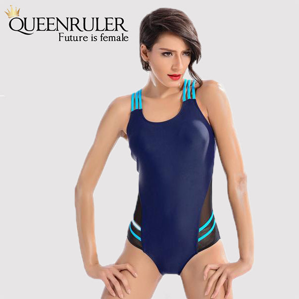 Backless One Piece Swimsuit (Purple) - Queenruler