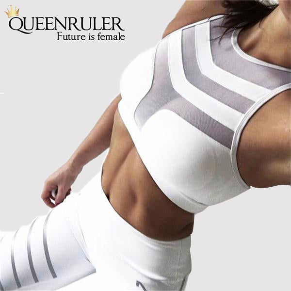 Sexy Sleeveless Yoga Top (White) - Queenruler