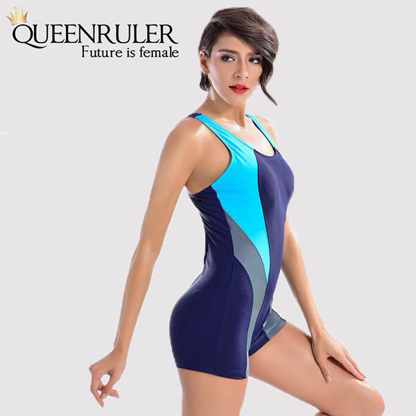 One Piece Fashion Swimsuit (Purple) - Queenruler