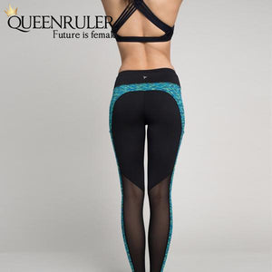 Women Fitness Leggings (Green) - Queenruler