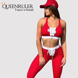 New Two Piece Drawstring Tracksuit - Queenruler