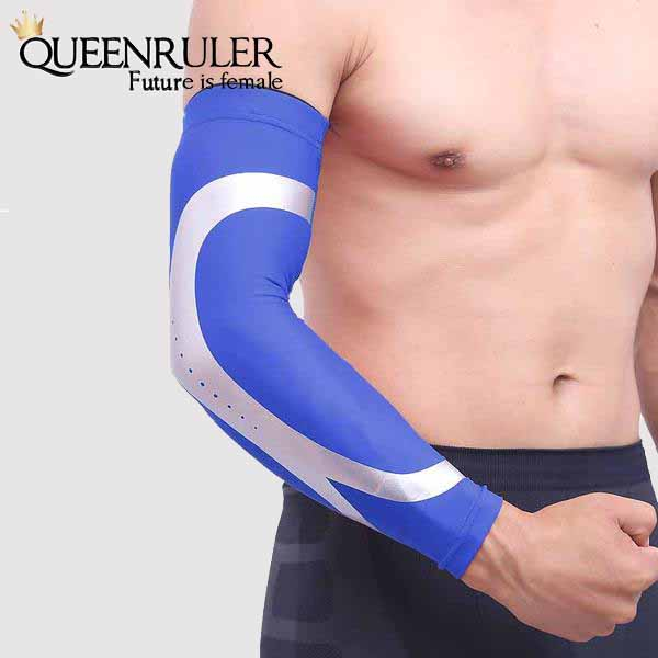 Blue Sports Warmer Arm  Sleeves | Queenruler
