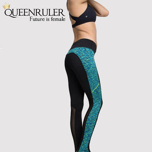 Side View Women Fitness Leggings (Green) | Queensruler