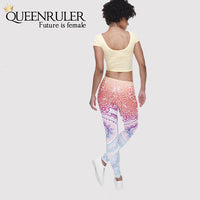 Back View Aztec Women Fitness Leggings | Queensruler