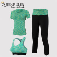 Professional 3 in 1 Yoga Set (Green) - Queenruler