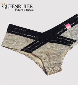 Comfort Cotton Panties (Gray) - Queenruler