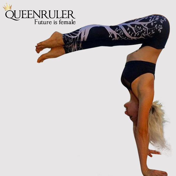 Tree of Nature Leggings (Black) - Queenruler