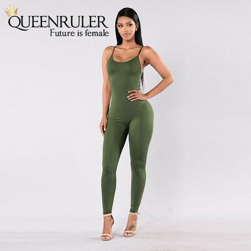 Quick-Dry Athletic Jumpsuit (Army Green) - Queenruler