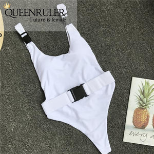 Queenruler Sexy Bathing Suit (White) - Queenruler
