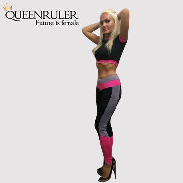 Two Piece Sport Suit (Rose) - Queenruler