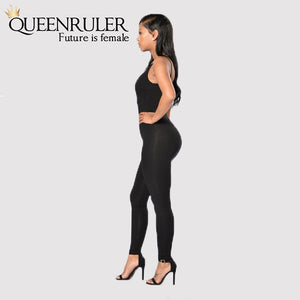 Quick-Dry Athletic Jumpsuit (Black) - Queenruler