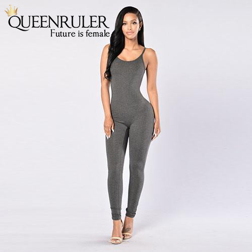 Quick-Dry Athletic Jumpsuit (Dark Gray) - Queenruler