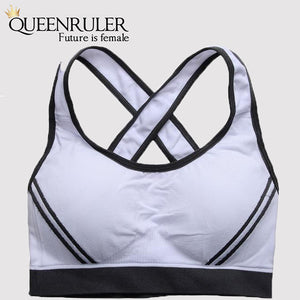 Sexy Padded Sports Bra (White) - Queenruler