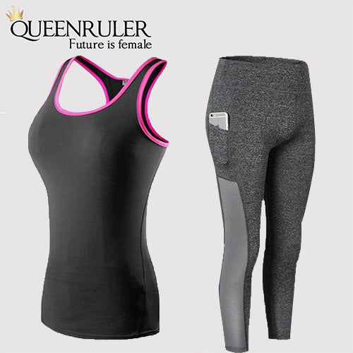 Fitness Yoga Set with Pocket - Queenruler
