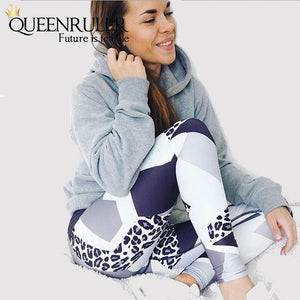 High Waist Slim Fitness Leggings - Queenruler