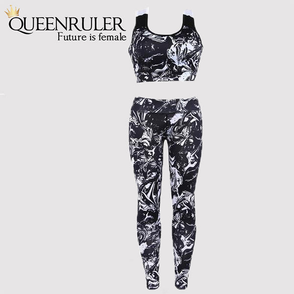 Floral Print Track Suit (Black) - Queenruler