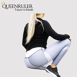 Breathable Push Up Leggings (Gray) - Queenruler