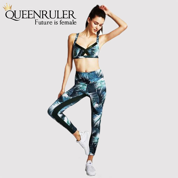 Two Piece Yoga Leaf  Set - Queenruler
