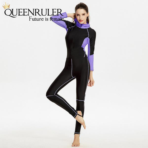 Queenruler Running Suit With Hoodie (Black) - Queenruler