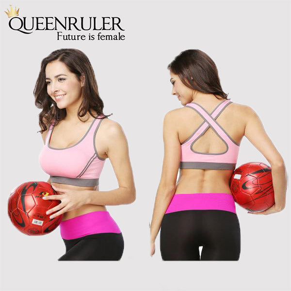 Breathable Fitness Bra (Pink) - Queenruler
