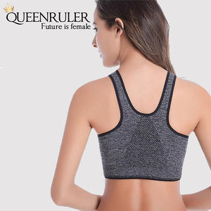 Cleavage Enhancing Athletic Bra (Gray) - Queenruler