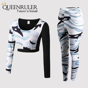 Long Sleeves Sportswear Set (White) - Queenruler