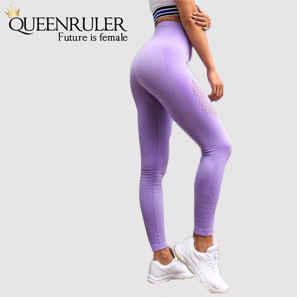 Seamless Tummy Control Leggings (Light Purple) - Queenruler