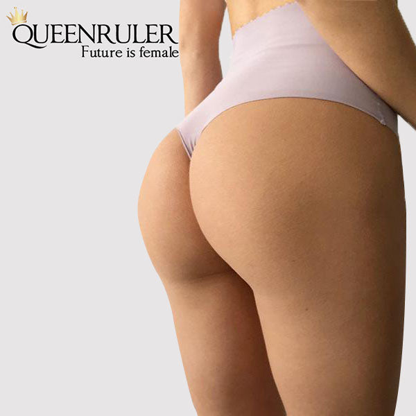High Waist Seamless Pantie (Gray) - Queenruler