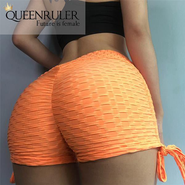 Sexy Laces Shorts (Orange) - Queenruler