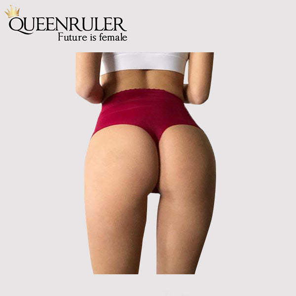 High Waist Seamless Pantie (Red) - Queenruler
