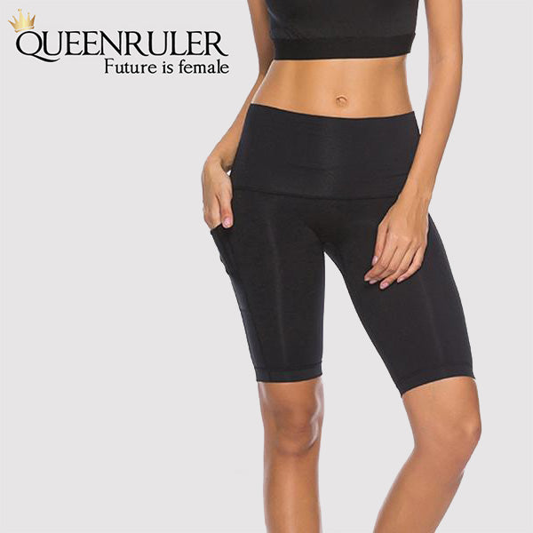 Quick Dry Running Tights (Black) - Queenruler