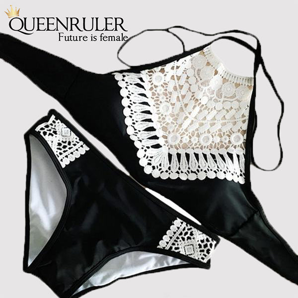 Sexy Brazilian Thong (Lace Black) - Queenruler