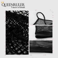 Sexy women Mesh Sports Bra (Black) - Queenruler