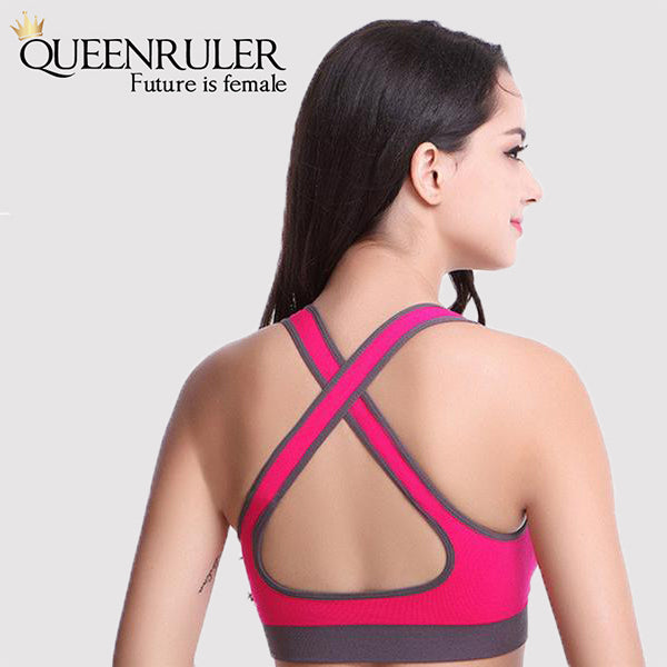 Sexy Padded Sports Bra (Hot Pink) - Queenruler