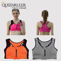 Women Sports Fitness Bra (Gray) - Queenruler